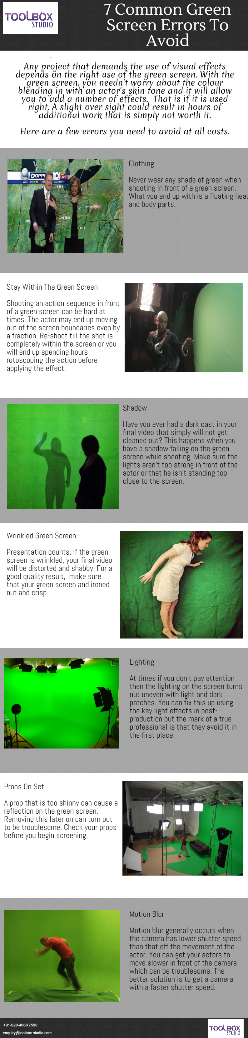 visual effects, green screen errors to avoid
