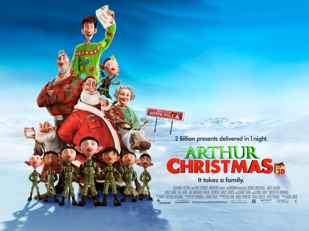 arthurs christmas, animated christmas movies