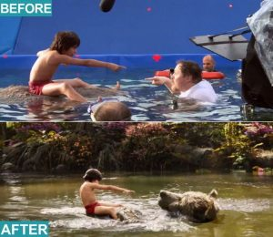 blue screen compositing - jungle book