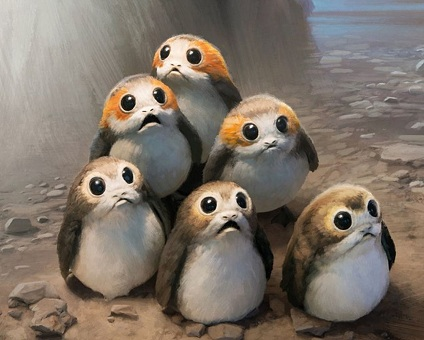 The Porgs from The Last Jedi
